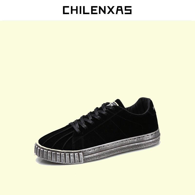 CHILENXAS 2017 Autumn Winter New Fashion Leather font b Shoes b font Men font b Casual