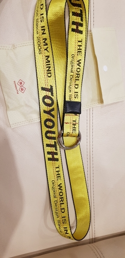 Toyouth 2017 New Fashion Women Belt Embroidery Letter Printed Yellow Belts Woven Female Waistbands Modern Long Pant Accessories
