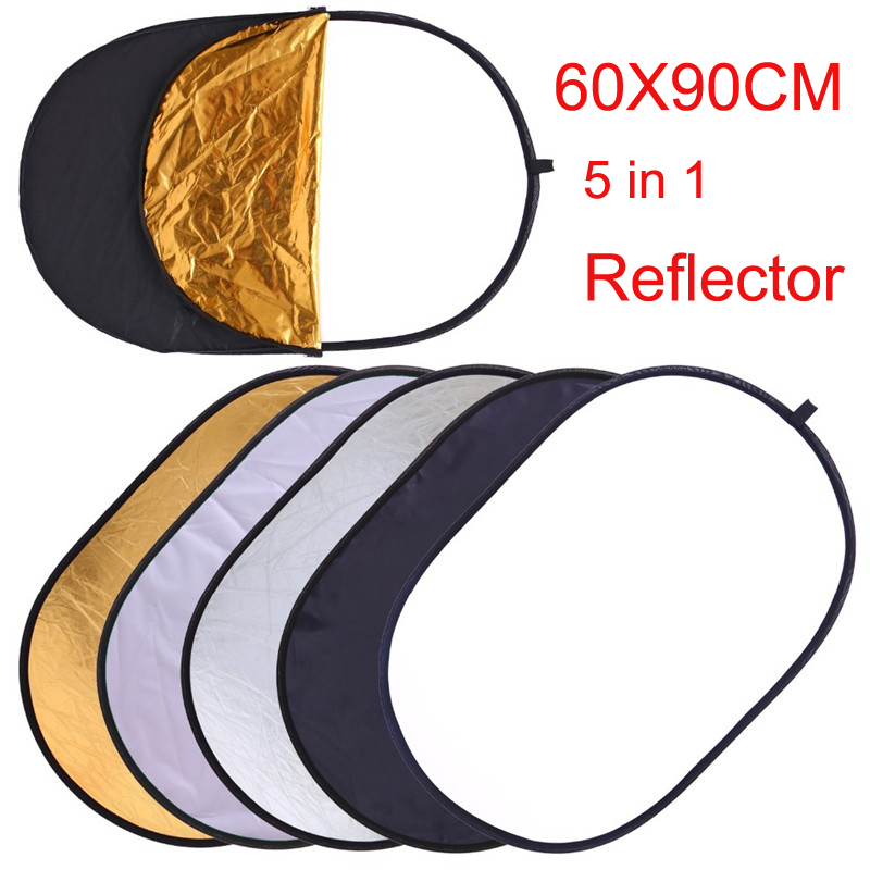 60x90CM 5 IN 1 Collapsible Photography Reflector Photo Studio Photo Oval Reflecotor Photographic Lighting Reflector Drop Ship60x90CM 5 IN 1 Collapsible Photography Reflector Photo Studio Photo Oval Reflecotor Photographic Lighting Reflector Drop Ship