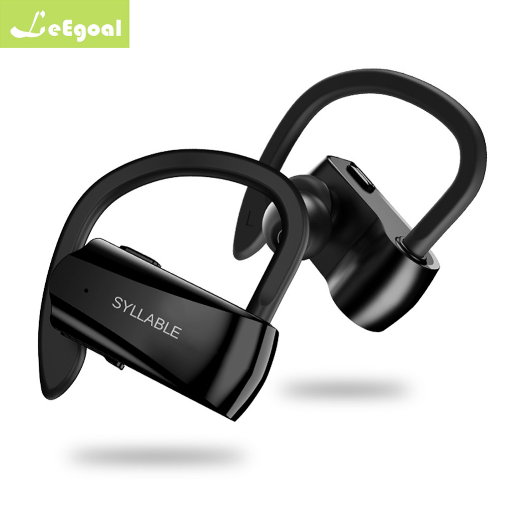 лучшая цена leegoal D15 bluetooth V5.0 earphone noise reduction bluetooth SYLLABLE headset for mobile phone wireless sports bass earphone
