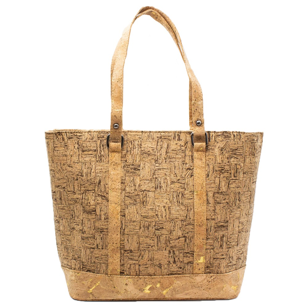 все цены на Cork bags cork handbag for women natural cork strip cork vegan handmade Original fashion handbag BAG-318-B онлайн
