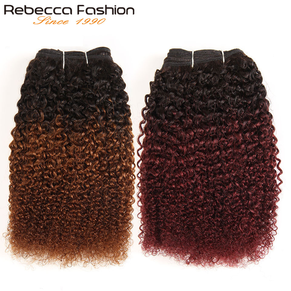 Afro-Kinky-Weave-Curly-Hair-1-Piece-Only-Ombre-Brazilian-Human-Hair-Weave-Bundles-Deal
