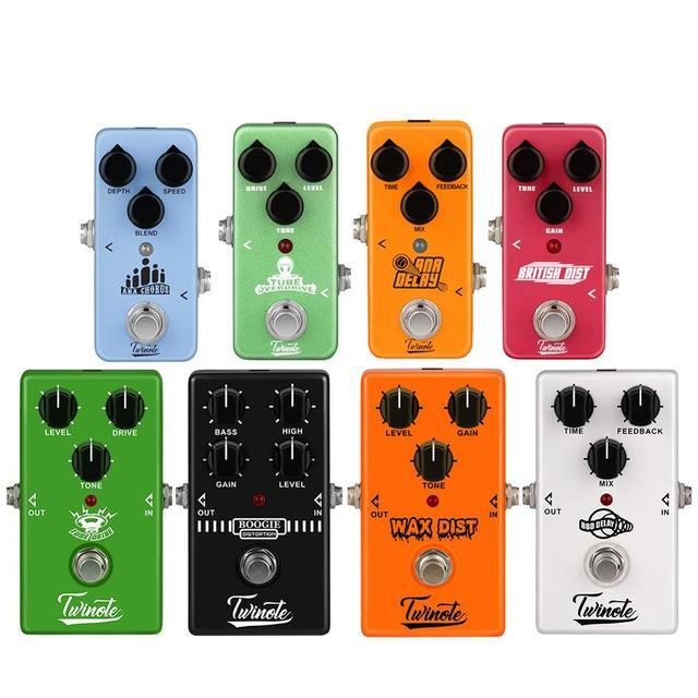 Đàn Guitar điện Tác Động Đạp Chân Mini Tác Dụng Overdrive/Biến Dạng/Cổ Điển/Fuzz/AMP Tăng Áp/Boogie Q./ ĐẦM BBD Trì Hoãn Phụ Kiện Guitar