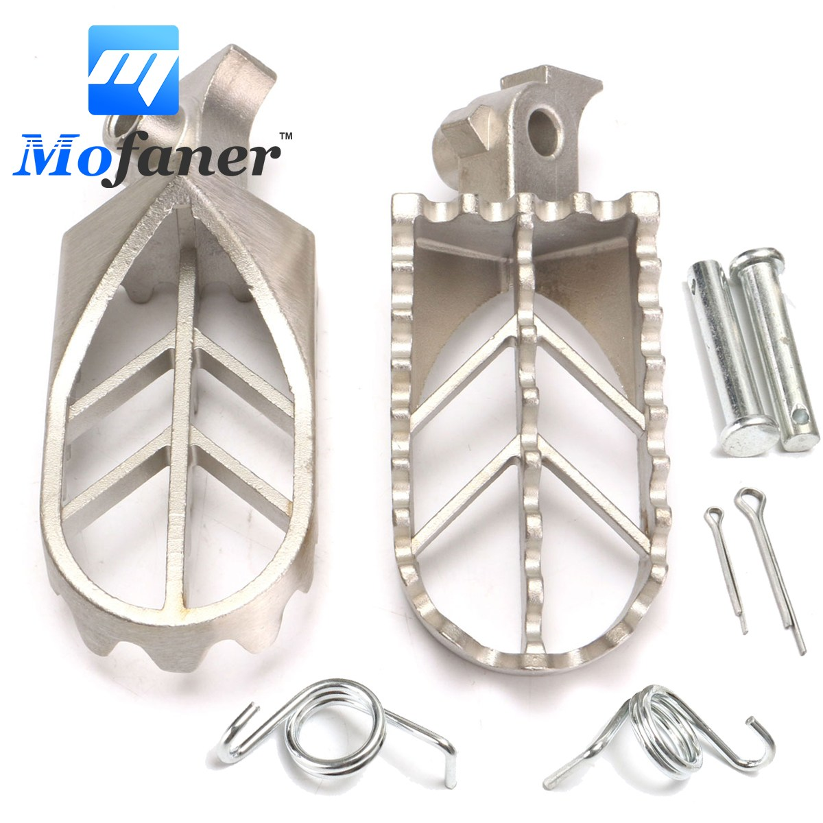 1 Set Stainless Steel Motorcycle Foot Peg Rest Pedal For Yamaha YZ85 YZ125 YZ250 YZ450F WR250F