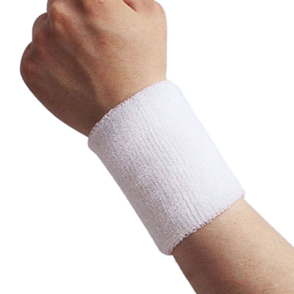 1Pc Unisex Sports Tennis Badminton Sweat Absorb Band Wrist Protector Wristband