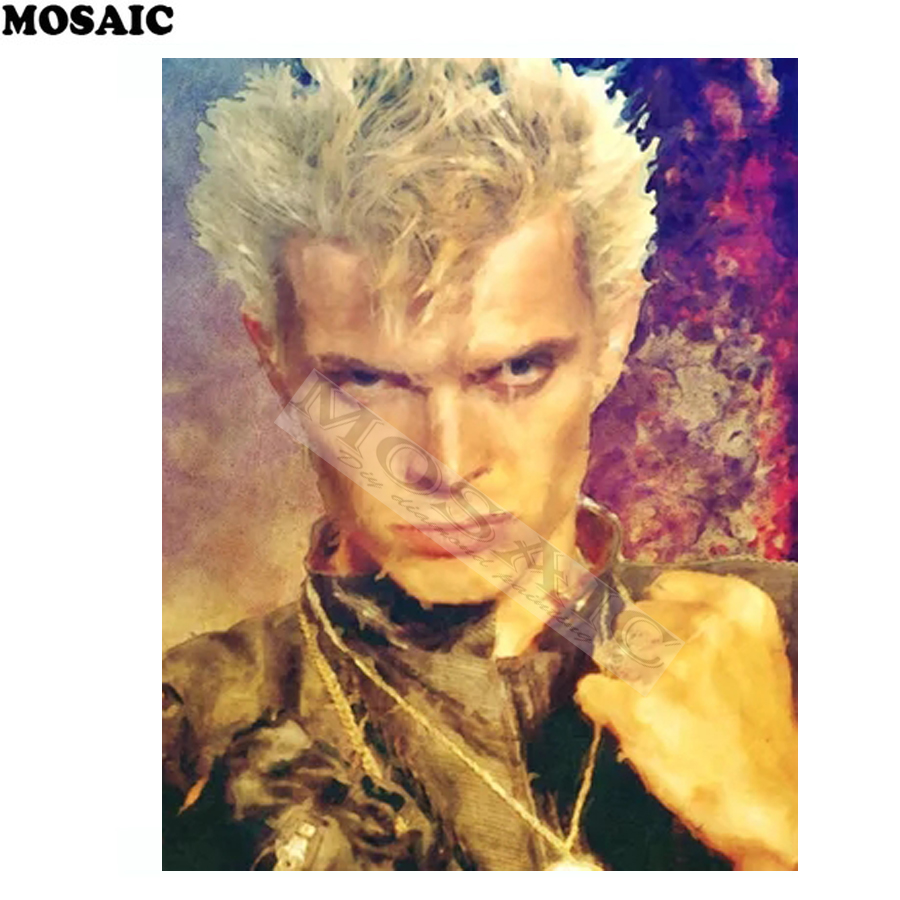 5d diamond painting mosaic Billy Idol - 80s Rock rhinestone cross stitch full square dia ...