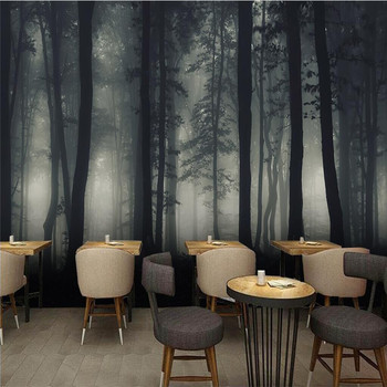 Dark Series Forest Forest Wall Professional Production Wallpaper Mural Custom Photo Wall Whole House Custom romantic mediterranean style background wall professional production mural wholesale wallpaper mural poster photo wall