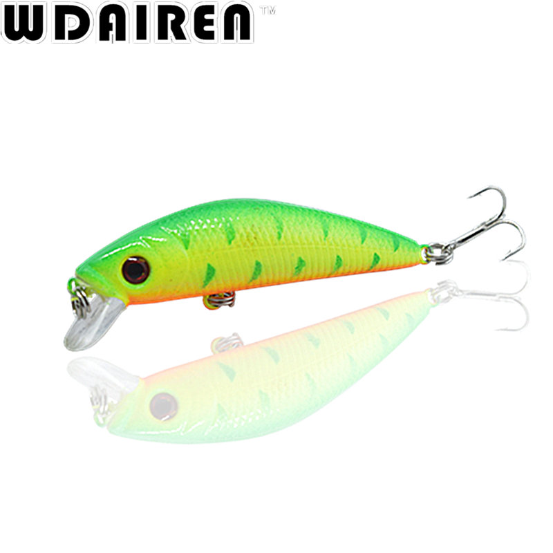 1PCS 7cm 8.1g Minnow Fishing Lure Wobbler Tackle Crankbait Artificial Japan Lifelike Hard Bait 6# Hooks Fish Swimbait WD-285 portable 2 layers many compartments visible pvc fishing lure bait hooks fish tackle box accessory storage box case fishing tool