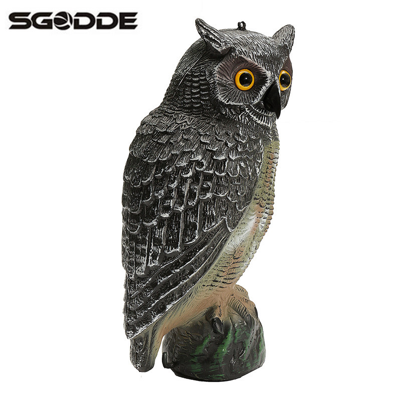 New Arrival 40x19cm Outdoor Hunting Plastic Fake Owl Decoys Garden Yards Ornaments Scarer Scarecrow Pest Deterrent Repeller