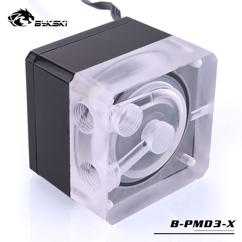 Bykski DDC Pump PWM Automatic Speed Regulation 6M 600L/H Water Cooling Pump B-PMD3-X цены