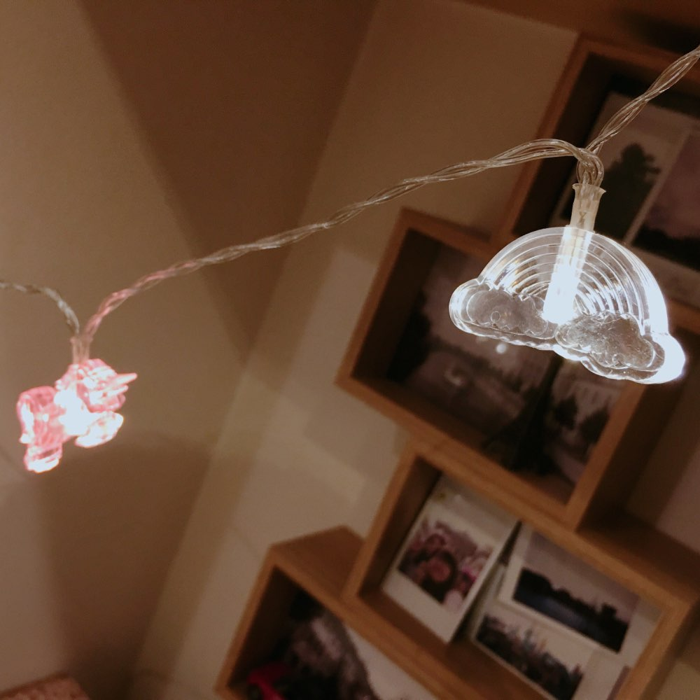 Battery Lights for Unicorn Fairy Lights Party Decoration photo review