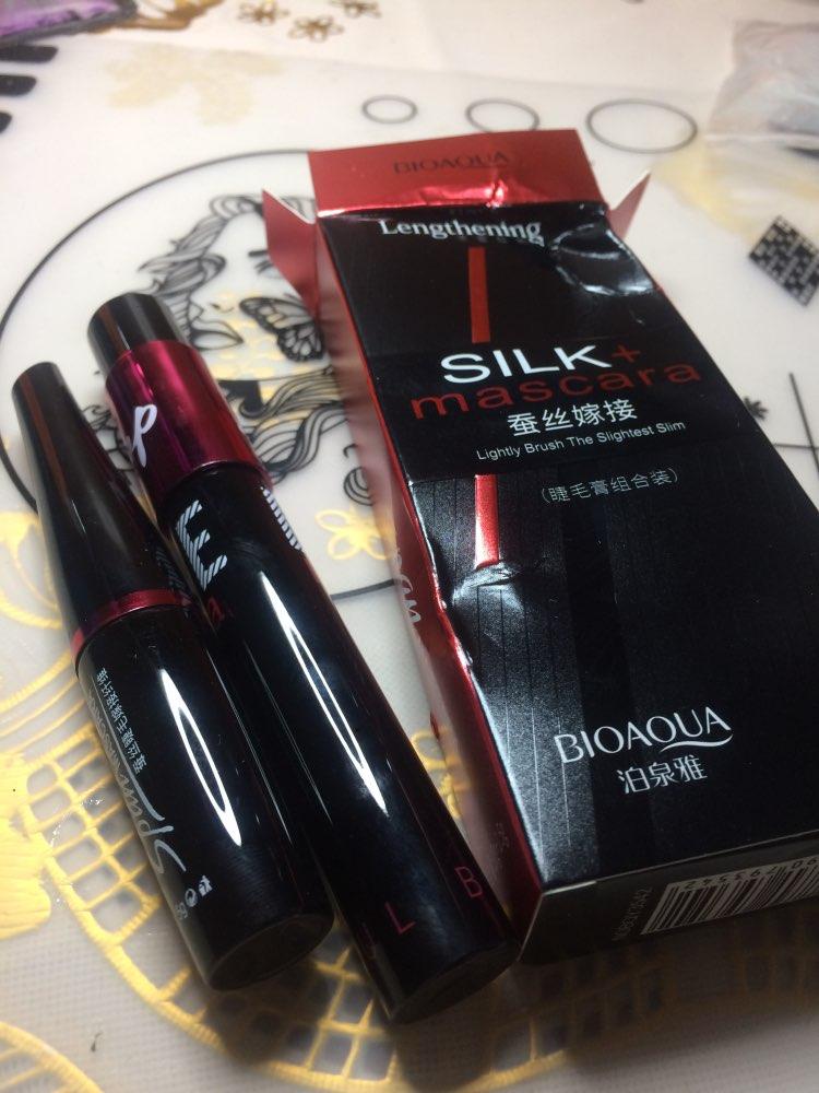 BIOAQUA Brand 2 in 1 false eyelashes + Mascara 3D Fiber Makeup