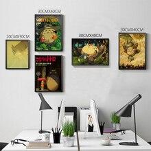 Retro Totoro Kraft Paper Posters Japanese Anime Totoro Wall Sticker Kids Room Decoration Vintage Poster Totoro
