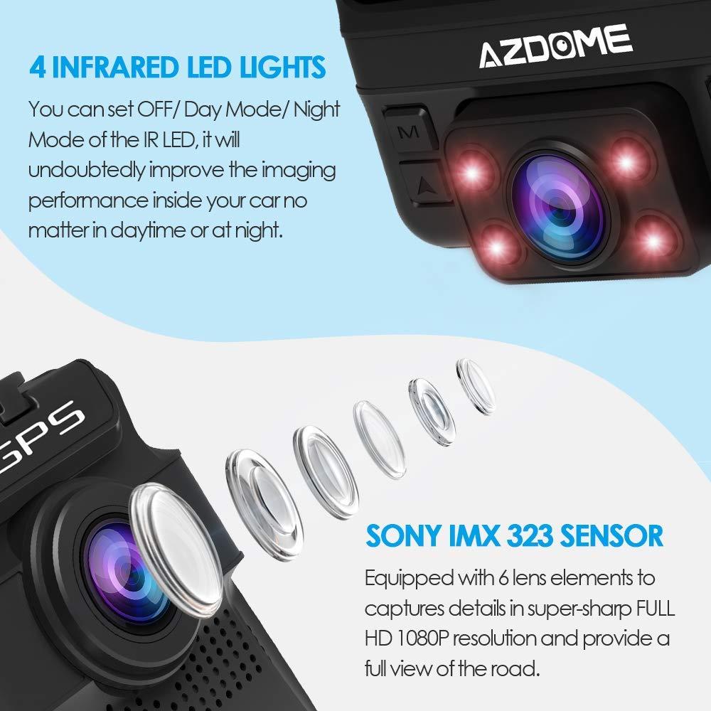 AZDOME GS65H Original Mini Dual Lens Car DVR 2.4