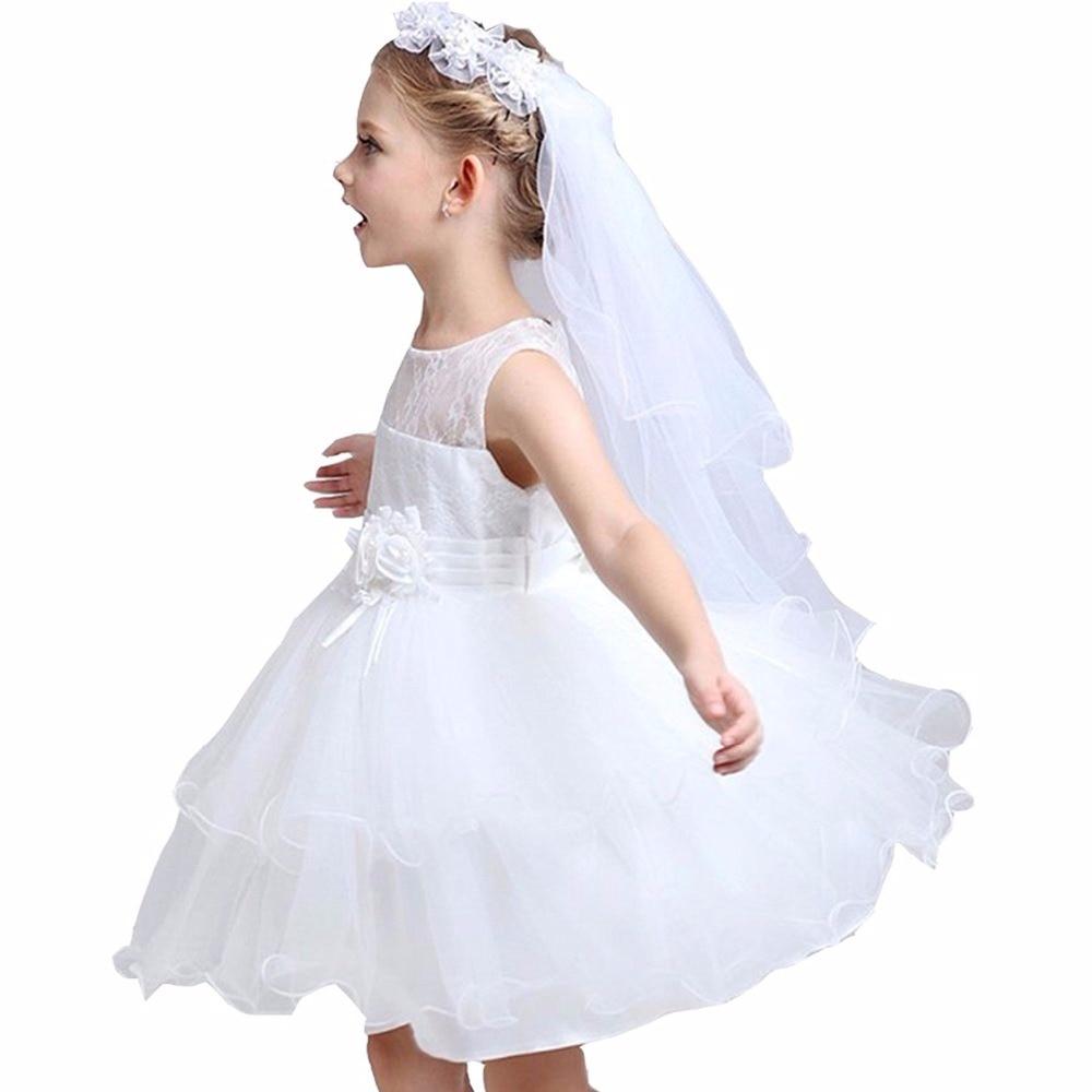 Dziewczęce welony komunijne Opaska biała wianek kwiatowy wesele z - Odzież dla niemowląt - Zdjęcie 5