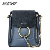 Известные бренды из натуральной кожи замшевые Роскошные Сумки Для женщин дизайнерские сумки через плечо сумки для женщин кольцо сумка Femmes