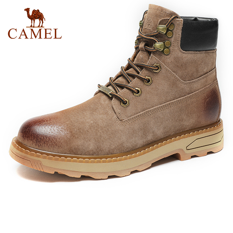 CAMEL <font><b>Men's</b></font> <font><b>Shoes</b></font> <font><b>Winter</b></font> Autumn Quality Tooling Boats Army Male Tactical Military Genuine Leather Boots Rubber Work <font><b>Shoes</b></font> Man image