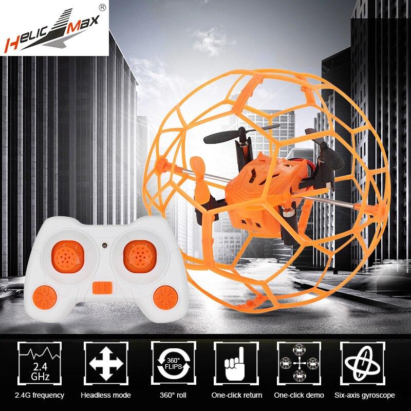 Mini Drone Flip RC bola Sky Walker 2,4 GHz 4CH bola de la mosca RC Quadcopter 3D Flip Roller Headless Drone RC juguetes del helicóptero