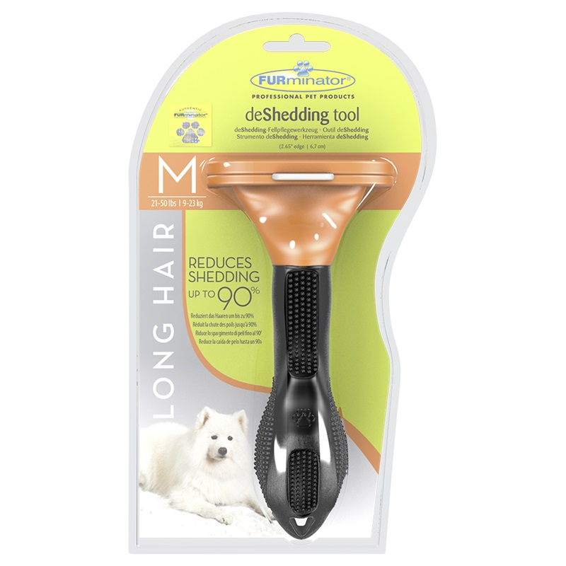 The tool against a molt of FURMINATOR for long-haired dogs of average breeds of Long Hair Medium Dog of 7 cm.  Dog Accessories synthetic long senegal twists hair extension