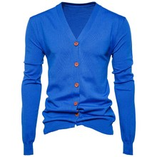 New Mens Autumn Winter Knitted Cardigan V Neck Long SLeeve Sweater Casual Tops For Male Loose Fit Fashion Sweater Men Solid Coat