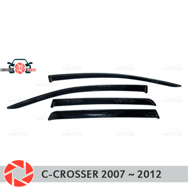 Window deflector for Citroen C-Crosser 2007-2012 rain deflector dirt protection car styling decoration accessories molding original view window flip pu leather case cover for uhappy up920