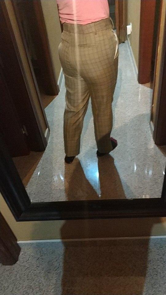 Bella Philosophy 2019 Spring Plaid Basic Pants Women Casual High Waist Long Harem Pants Female Zipper Office Lady Pants Bottoms