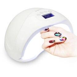 48W الأشعة فوق البنفسجية الصمام مصباح مجفف لطلاء الأظافر المهنية UV LED مسمار مجفف علاج الإضاءة 100 ~ 240V جل ورنيش مسمار أدوات الرسم ل 4 لمسة زر