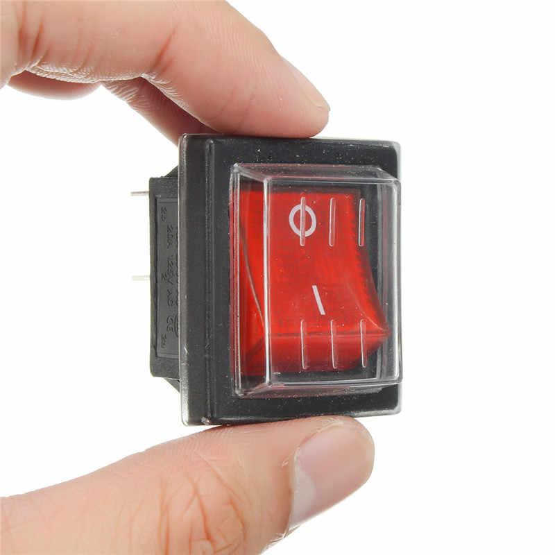 1 шт. 36x29 мм 250 в SPST 4 Pin водонепроницаемый кулисный переключатель для промышленные пылесосы водопоглощение с крышкой