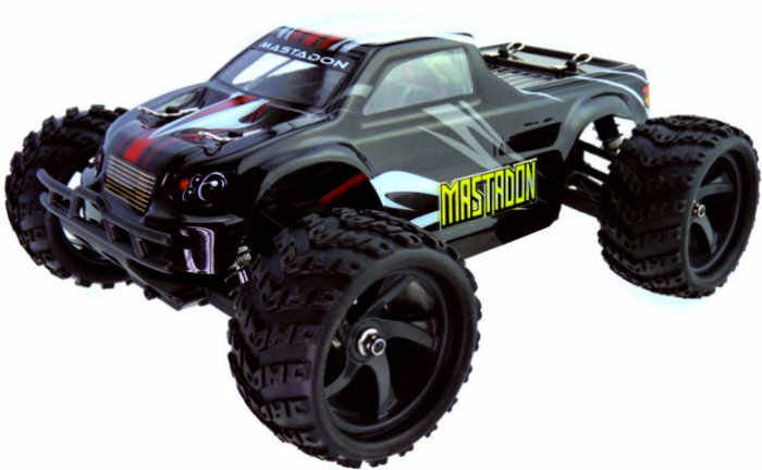 Himoto Mastadon Skala 1:18 Rtr 4WD Electric Power Brushless Truk W/2.4G Remote Hitam