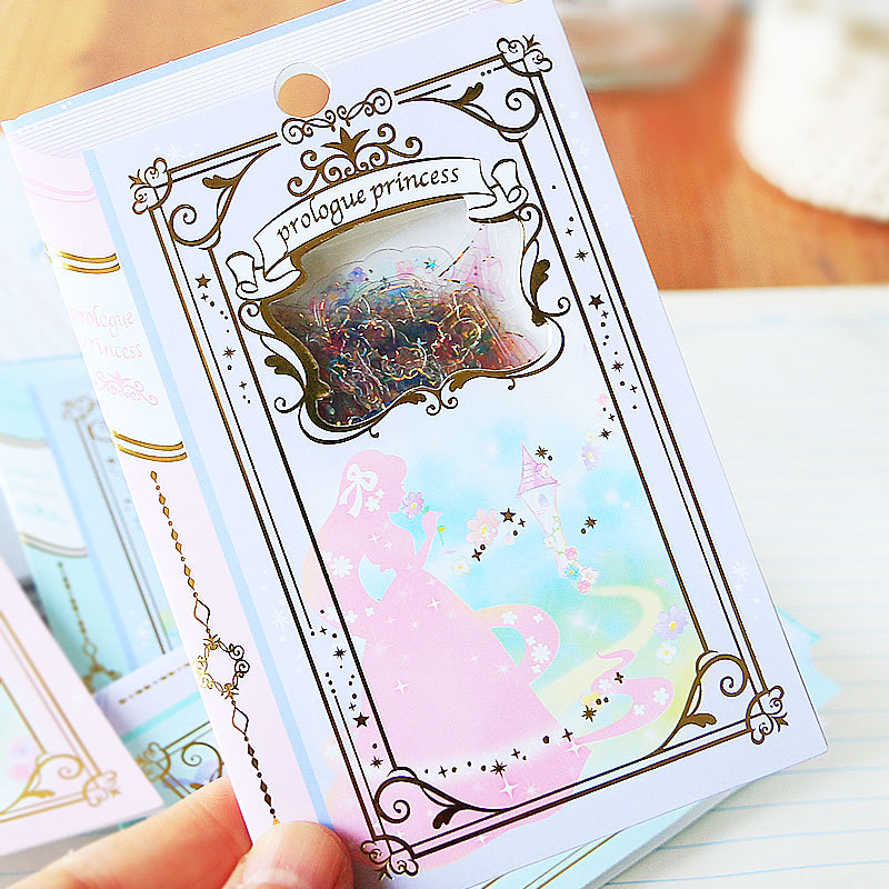 DIY 1 pcs/pack Fairy tale window Diary Stationery Stickers Decorative Mobile Stickers Scrapbooking DIY Craft Stickers spring and fall leaves shape pvc environmental stickers decorative diy scrapbooking keyboard personal diary stationery stickers