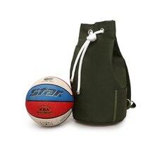 Lona Homens Mochila de Desporto Saco de Basquete Para Os Meninos Adolescentes  Bolsa Para Laptop Pacote de Bola de Futebol de Fut. 6a9a48e297d7c