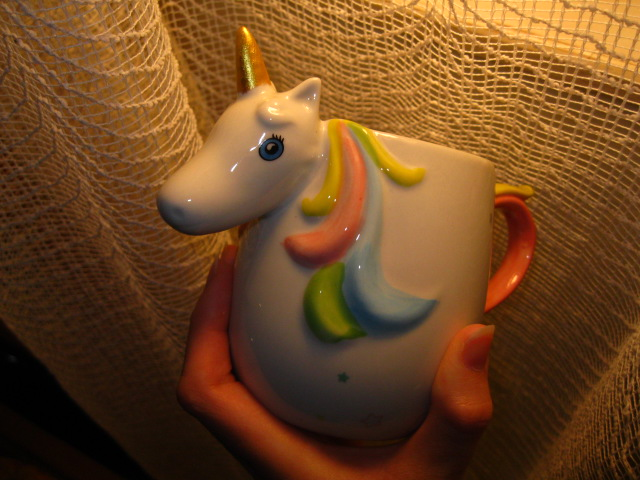 3D Rainbow Unicorn Ceramic Mug photo review