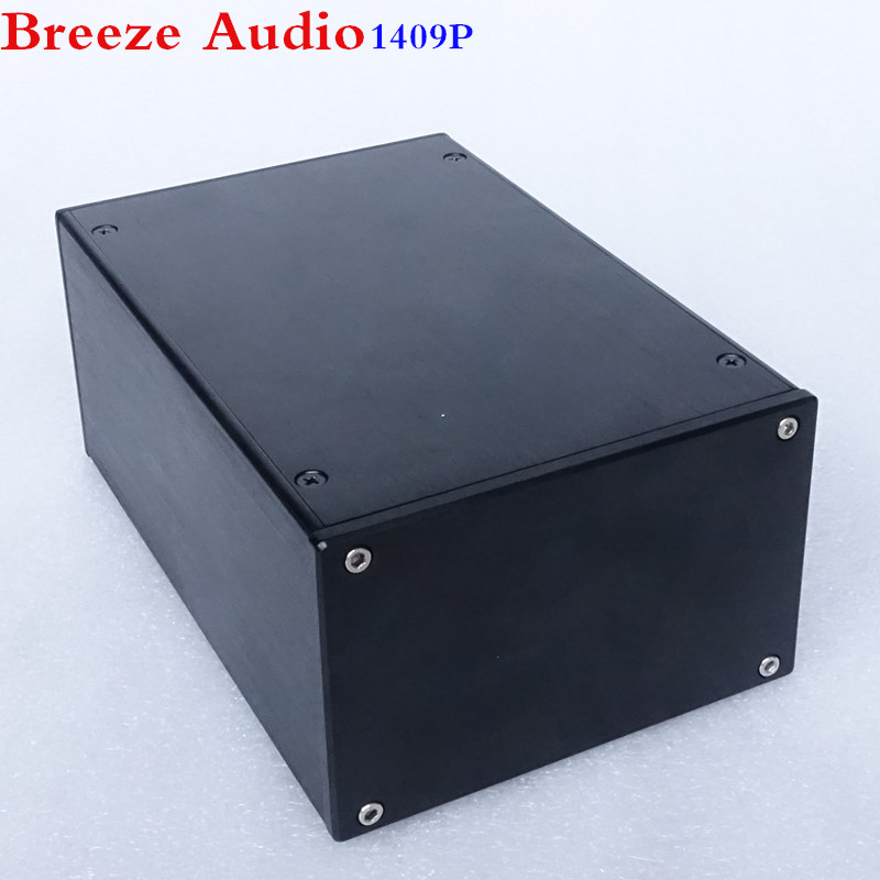 Breeze Audio & Weiliang Audio amplifier case power chassis aluminum case BZ1409P nobsound hi end audio noise power filter ac line conditioner power purifier universal sockets full aluminum chassis