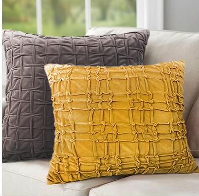 Современная мода Роскошные декоративные ручной работы Pintuck плиссированные Геометрия диван 3D Чехлы для подушек Пледы Подушки Детские чехол