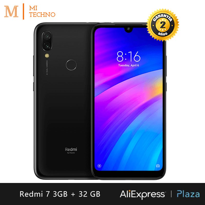 Global Version Xiaomi Redmi 7 smartphone HD 6 26 RAM 3GB ROM 32GB double SIM