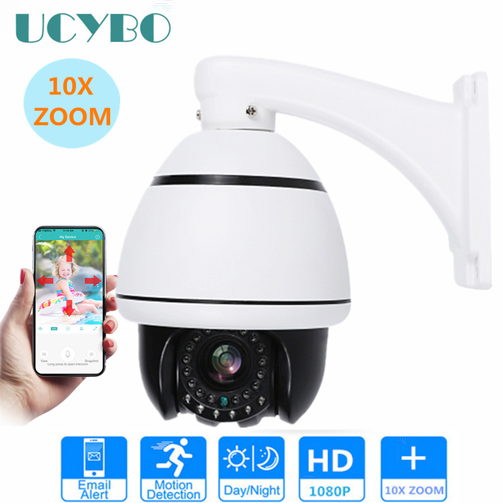 1080P ip camera PTZ cctv security mini speed dome camera 2mp pan tilt 10x auto zoom onvif P2P IR outdoor video surveillance cam full hd onvif network 1080p 2mp 10x mini ptz camera ip 1080p 10x zoom ptz ip camera speed dome with mobile phone access