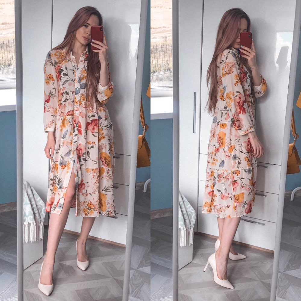 Women Floral Chiffon Dresses Summer  Fashion Spaghetti Strap Lining Two Piece Sets Modern Lady Dress Feminino Vestidos photo review