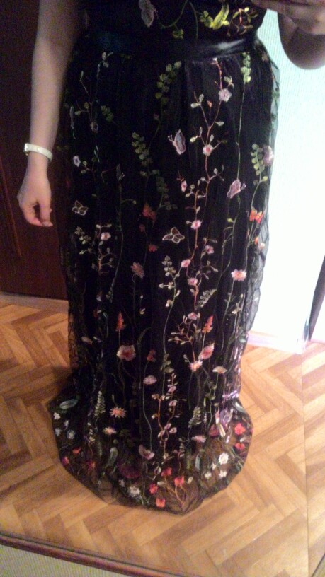 Sexy Mesh Vintage Floral Embroidery Maxi Dress Women Autumn Backless Beach Dress Female Elegant Ladies Wrap Long Dress photo review