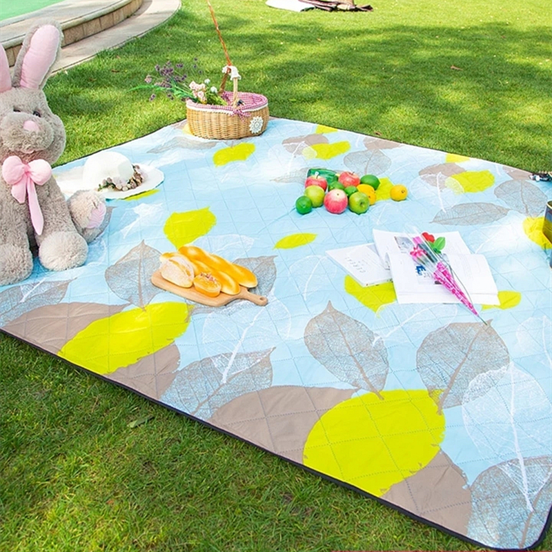 Machine Washable 200*200cm Camping Mat Picnic Mats Outdoor Beach Tent Mat Blanket Children Plaid Baby Rug Moisture-proof Pad