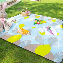 цены на Machine Washable 200*200cm Camping Mat Picnic mats Outdoor Beach tent Mat Blanket children Plaid Baby rug Moisture-proof pad  в интернет-магазинах