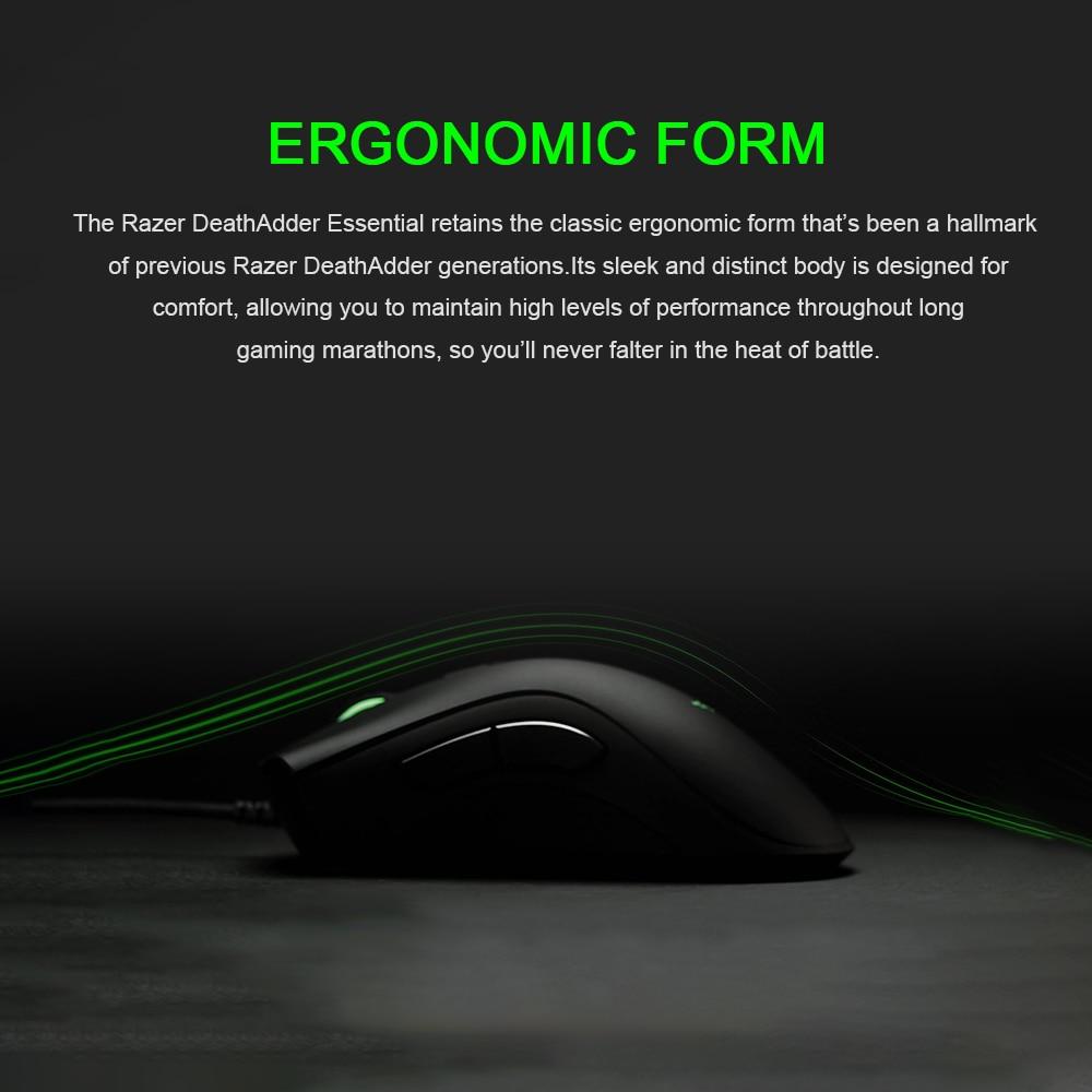 Razer Deathadder Essential Gaming Maus, 6400 DPI, optischer Sensor, LED Beleuchtung, 5 programmierba