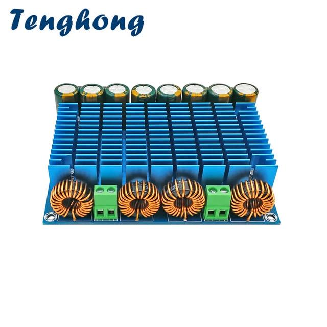 Tenghong TDA8954TH デジタルパワーアンプボード 420 ワット + 420 ワットクラス D デュアルチャンネルステレオオーディオ Amplificador AC24V 30V 420 ワット * 2 アンプ