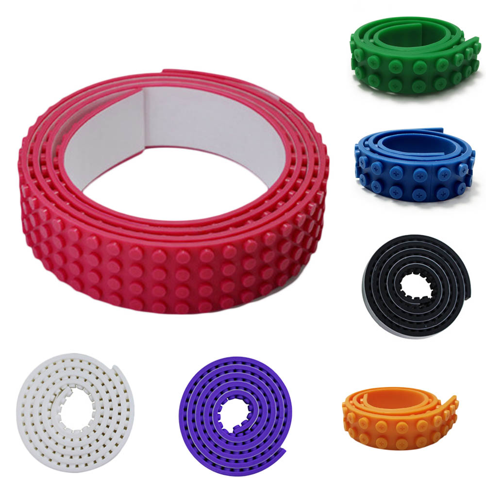 100CM/Pcs Small Nimuno Loops Plastic Tape Blocks Base Plate Building Blocks lepin DIY Baseplate no Sticky  1m 2x32 dots small nimuno loops plastic tape blocks base plate 1pcs building blocks diy baseplate compatible with lepin