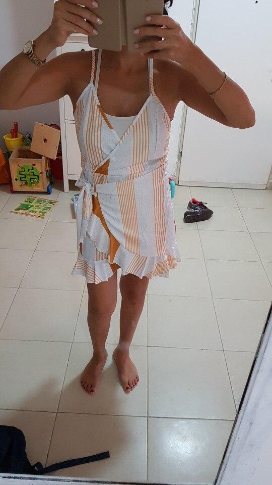Gaovot 2018 Лето Для женщин Бохо пляжное платье мини с глубоким v-образным вырезом Спагетти ремень спинки сборок Сексуальная Кружева Платья Vestidos s-XL