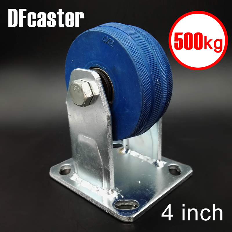 Super Rubbr 500kg Heavy Load 4 inch casters Directional Caster carrying wheel Universal Castor Double bearing Trolley Wheels new 4 swivel wheels caster industrial castor universal wheel artificial rubber heavy casters brake 360 degree rolling castors