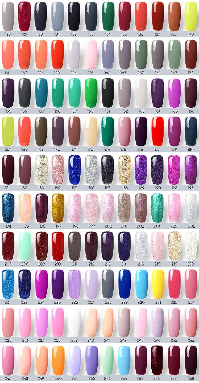Image 5 - 240 Colors/lot CANNI Soak Off Gel Nail Polish 7.3ml LED UV Color Gel Lacquer Nail Art Salon LED Lamp Curing UV Gel Nail Polish-in Nail Gel from Beauty & Health