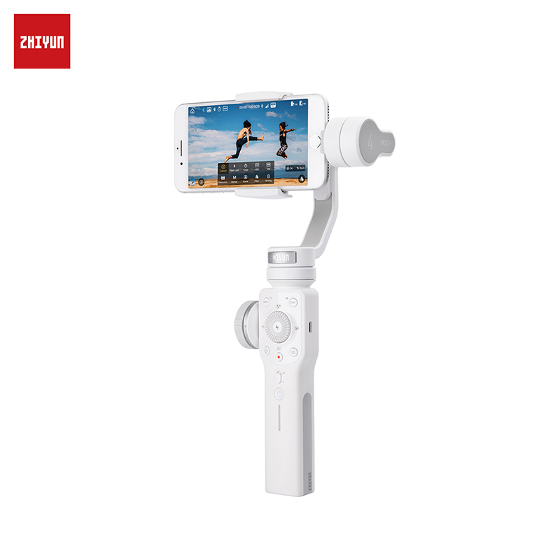 Handheld 3-Axis Stabilizer for Smartphone ZHIYUN Smooth 4 White Smartphone Gimbal Stabilizer VS Smooth Q Model for iPhone X hg3d handheld mini dslr 3 axis brushless gimbal camera mount ptz for gh3 gh4 nex5 a5000 6000 a7 fpv multicopter