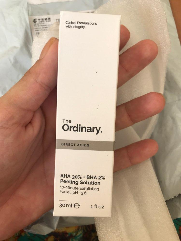 The Ordinary AHA 30% + BHA 2% Peeling Solution photo review