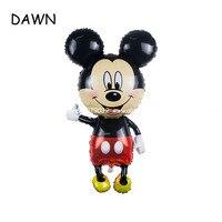 20ピース/ロット62*110センチミッキーマウスの漫画ミッキーミニーアルミ風船パーティー風船卸売子供のおもち