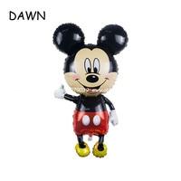 20pcs/lot 62*110cm Mickey Mouse cartoon Mickey Minnie aluminum balloons party balloons wholesale children's toys